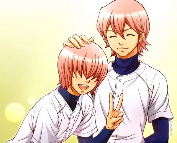 Tags: Anime, Diamond no Ace, Kominato Ryousuke, Kominato Haruichi, Baseball Uniform, Ace Of Diamond