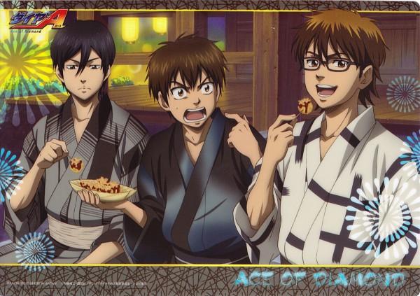Tags: Anime, Diamond no Ace, Furuya Satoru, Sawamura Eijun, Miyuki Kazuya, Official Art, Ace Of Diamond