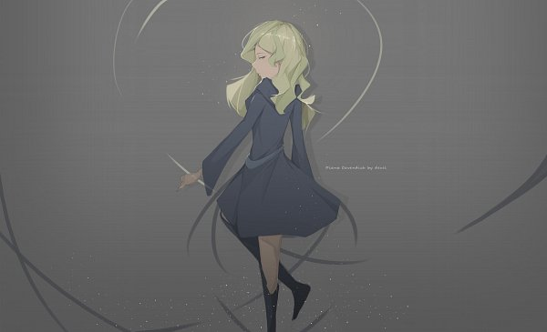 Tags: Anime, Pixiv Id 17263241, Little Witch Academia, Diana Cavendish, Pixiv, Fanart, Fanart From Pixiv