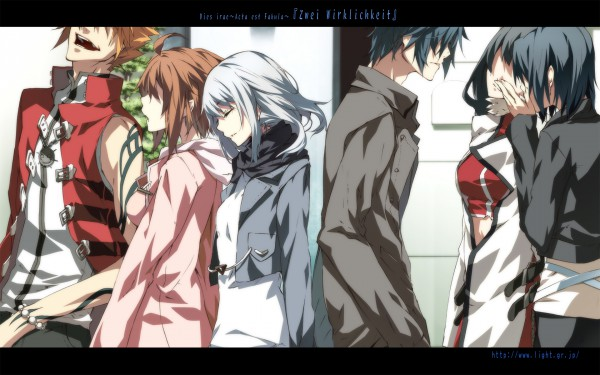 Tags: Anime, Dies irae: Also Sprach Zarathustra, Yusa Shirou, Himuro Rea, Ayase Kasumi, Fujii Ren, Wallpaper
