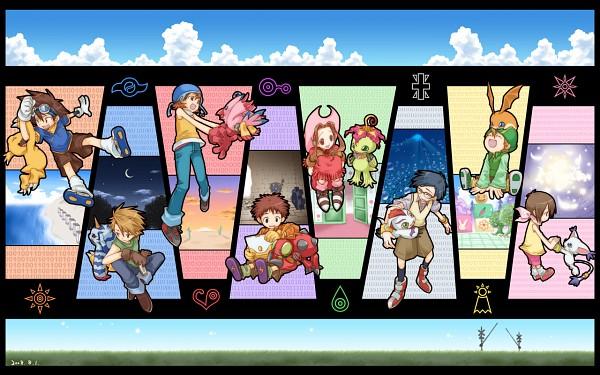 Tags: Anime, Pixiv Id 9073, Digimon Adventure, Kido Jyou, Gabumon, Piyomon, Gomamon, Patamon, Agumon, Tachikawa Mimi, Palmon, Gatomon, Yagami Hikari