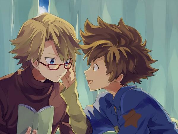 Tags: Anime, Niwatorisann, Digimon Adventure, Ishida Yamato, Yagami Taichi, 1000x750 Wallpaper, Wallpaper, Fanart