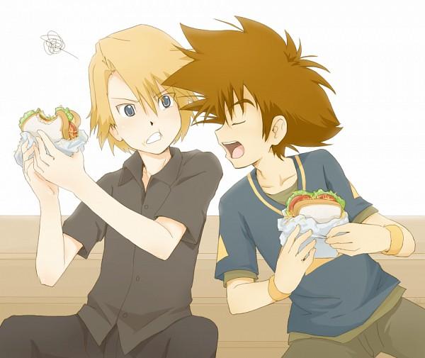 Tags: Anime, Rayana Wolfer, Digimon Adventure, Ishida Yamato, Yagami Taichi, Pixiv