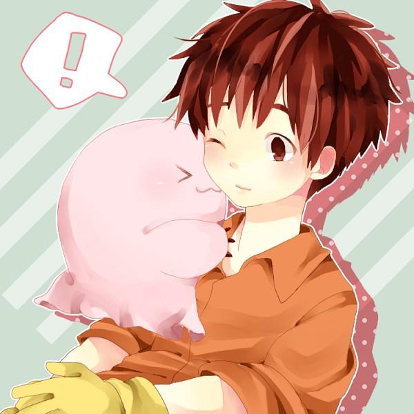 Tags: Anime, Pixiv Id 4257865, Digimon Adventure, Izumi Koushirou, Mochimon, Pixiv