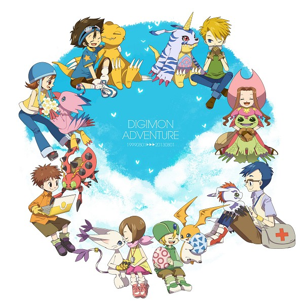Tags: Anime, Pixiv Id 1495327, Digimon Adventure, Tentomon, Takenouchi Sora, Yagami Hikari, Izumi Koushirou, Yagami Taichi, Kido Jyou, Takaishi Takeru, Gabumon, Ishida Yamato, Gomamon
