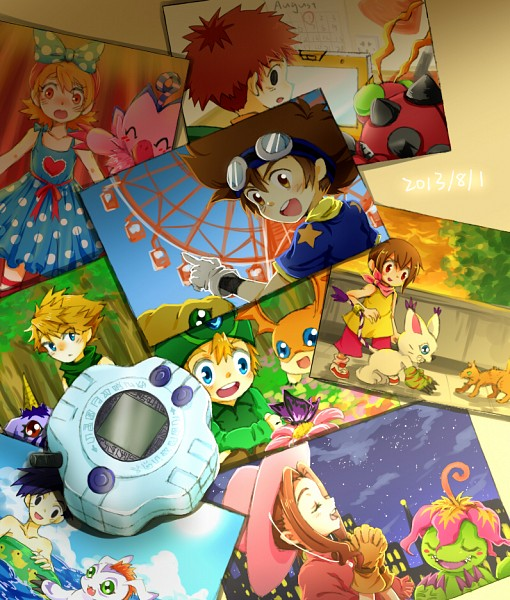 Tags: Anime, Pixiv Id 2639805, Digimon Adventure, Gomamon, Patamon, Agumon, Tachikawa Mimi, Palmon, Gatomon, Yagami Hikari, Tentomon, Yagami Taichi, Takenouchi Sora