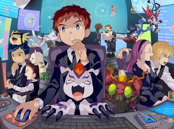 Tags: Anime, TKG, Digimon Adventure, Digimon Savers, Digimon Tamers, Digimon Frontier, Digimon Xros Wars, Kido Jyou, Tentomon, Gaomon, Hida Iori, Izumi Koushirou, Upamon