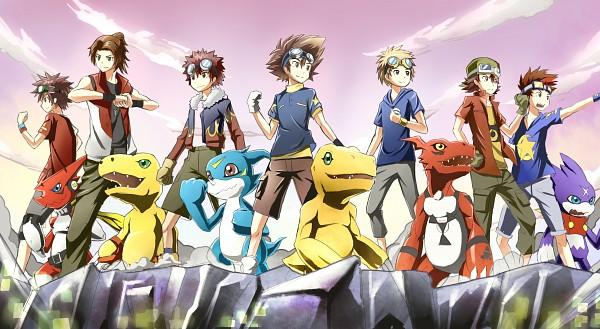 Tags: Anime, Pixiv Id 6071709, Digimon Adventure, Digimon Savers, Digimon Tamers, Digimon Frontier, Digimon Xros Wars, Guilmon, Kudou Taiki, Motomiya Daisuke, Matsuda Takato, Akashi Tagiru, Kanbara Takuya