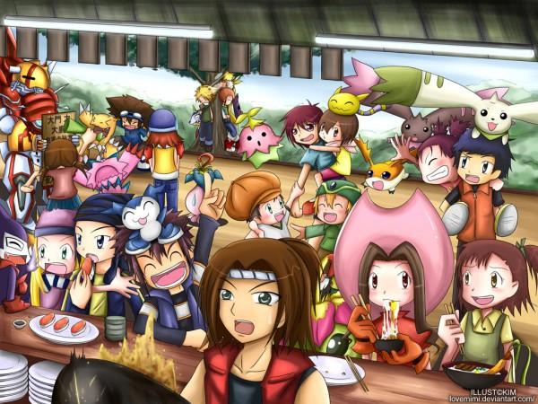 Tags: Anime, Lovemimi, Digimon Tamers, Digimon Adventure, Digimon Frontier, Digimon Savers, Motomiya Daisuke, Himi Tomoki, Impmon, Lee Shao Chung, Ishida Yamato, Daimon Chika, Patamon