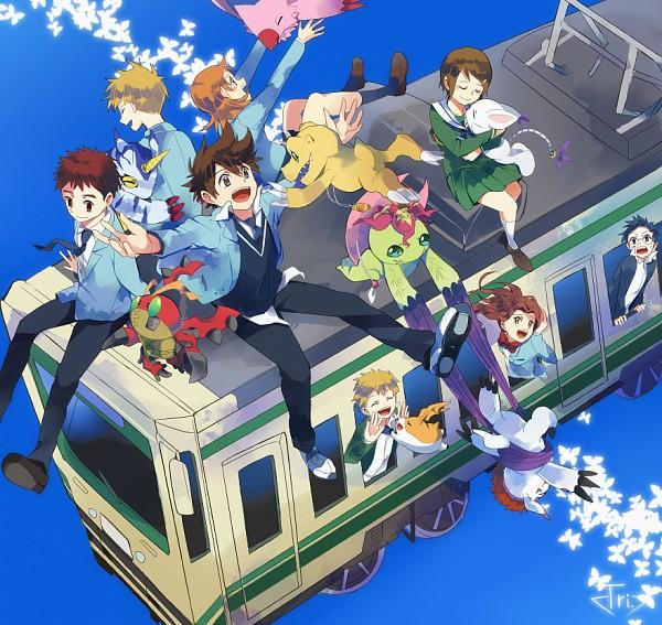 Tags: Anime, Natsuki Aisae, Digimon Adventure, Patamon, Agumon, Piyomon, Palmon, Gatomon, Tentomon, Takenouchi Sora, Yagami Hikari, Izumi Koushirou, Yagami Taichi