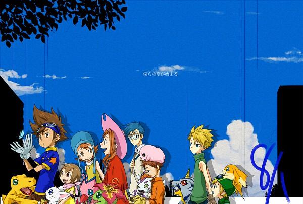 Tags: Anime, Yoshito7, Digimon Adventure, Tachikawa Mimi, Yagami Hikari, Gomamon, Yagami Taichi, Takaishi Takeru, Palmon, Ishida Yamato, Mochimon, Patamon, Tentomon
