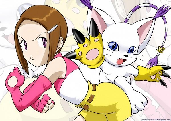 Tags: Anime, Bbmbbf, Digimon Adventure, Yagami Hikari, Gatomon