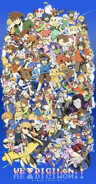 Tags: Anime, Natsuki Aisae, Digimon Savers, Digimon Adventure, Digimon Tamers, Digimon Frontier, Digimon Xros Wars, Gabumon, Gatomon, Amano Nene, Yagami Taichi, Willis (Digimon), Makino Ruki