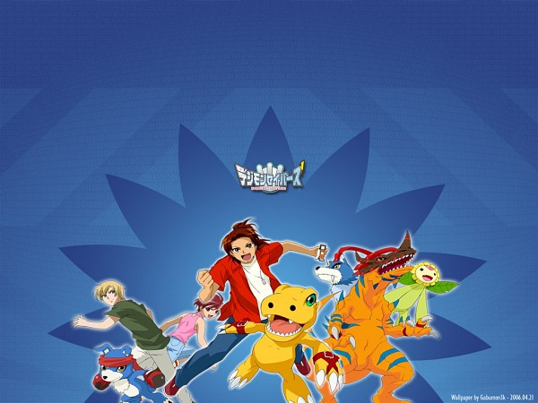 Tags: Anime, Digimon Savers, GeoGreymon, Thomas H. Norstein, Fujieda Yoshino, Gaomon, Gaogamon, Daimon Masaru, Sunflowmon, Agumon, Dinosaur