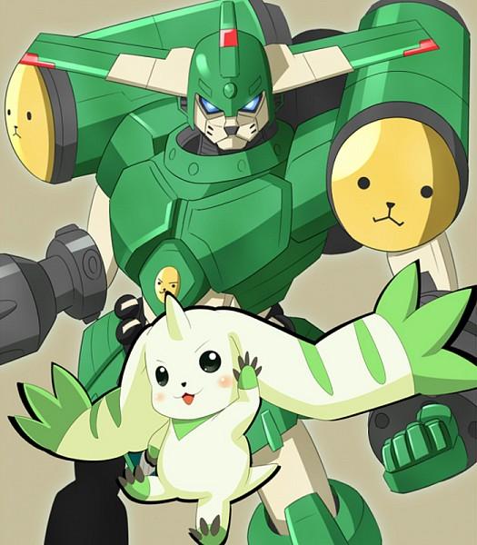 Tags: Anime, Pixiv Id 2542729, Digimon Tamers, Megagargomon, Terriermon