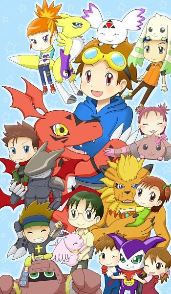 Tags: Anime, Digimon Tamers, Makino Ruki, Cyberdramon, Katou Juri, MarinAngemon, Lopmon, Akiyama Ryou, Guilmon, Hirokazu Shiota, Kitagawa Kenta, Matsuda Takato, Impmon