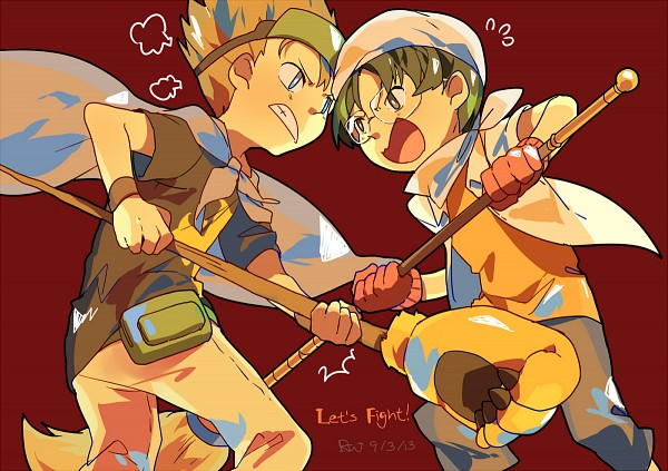 Tags: Anime, Pixiv Id 3719068, Digimon Tamers, Hirokazu Shiota, Kitagawa Kenta, Pixiv