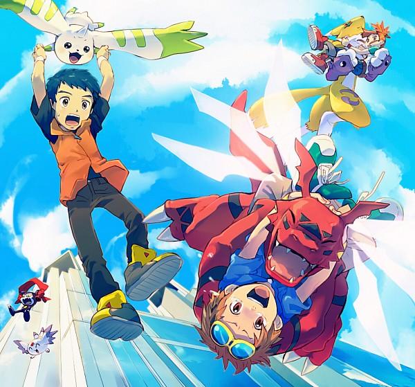 Tags: Anime, TKG, Digimon Tamers, Guilmon, Matsuda Takato, Li Jianliang, Renamon, Impmon, Makino Ruki, Culumon, Terriermon, Orange Outerwear, Rolled Up Pants