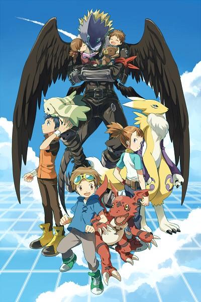 Tags: Anime, Pixiv Id 6620471, Digimon Tamers, Makino Ruki, Beelzemon, Terriermon, Guilmon, Ai (Digimon), Matsuda Takato, Li Jianliang, Renamon, Makoto (Digimon), Third Eye
