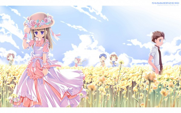 Tags: Anime, =3=, Digimon Tamers, Akiyama Ryou, Li Jianliang, Katou Juri, Matsuda Takato, Lee Shao Chung, Makino Ruki, Wallpaper