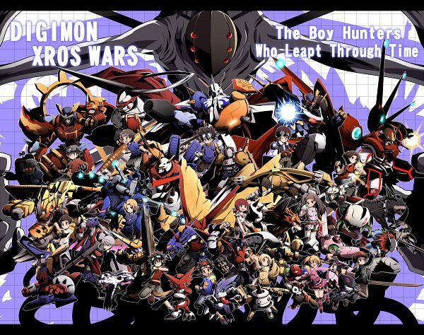 Tags: Anime, Nijiirosekai, Digimon Xros Wars, Mervamon, Clock Shop Owner (Digimon Xros Wars), Matsuda Takato, Quartzmon, OmniShoutmon, Gumdramon, Amano Nene, Shoutmon, Astamon, Psychemon, Digimon Fusion