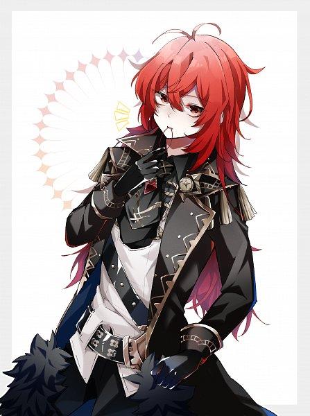 Tags: Anime, Pixiv Id 60891603, Genshin Impact, Diluc, Fanart, Fanart From Pixiv, Pixiv
