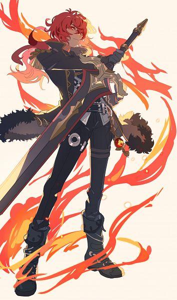 Tags: Anime, Kaag, Genshin Impact, Diluc, Pixiv, Fanart, Tumblr, Fanart From Pixiv
