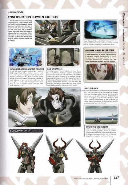 Tags: Anime, Mori Mitsue, Sega, Valkyria Chronicles 2 World Artworks, Valkyria Chronicles 2, Dirk Gassenarl, Official Art, Scan