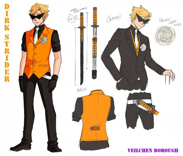 Tags: Anime, Blackoutballad, Homestuck, Dirk Strider, Tumblr, PNG Conversion, Fanart