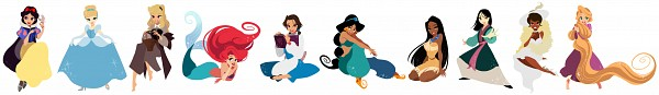 Tags: Anime, U-min, Disney, Snow White and the Seven Dwarfs, Sleeping Beauty, Rapunzel, Little Mermaid, Cinderella, Beauty and the Beast, Aladdin, Frog Prince, Pocahontas, Snow White and the Seven Dwarfs (Disney)