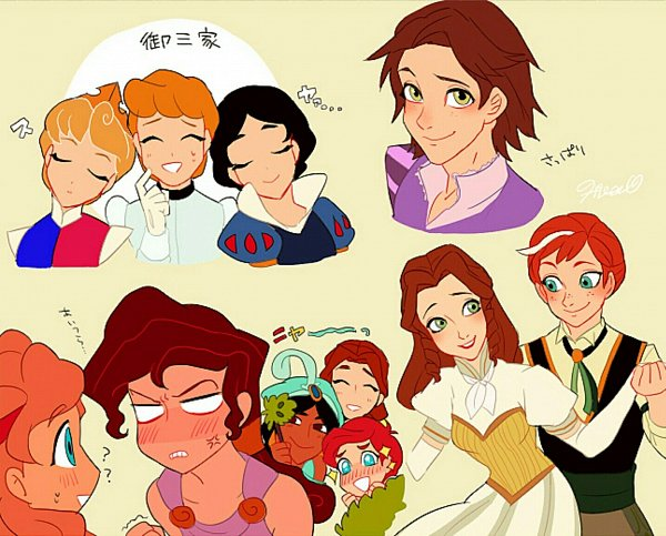 Tags: Anime, Pixiv Id 8814640, Beauty and the Beast, Aladdin, Rapunzel, Tarzan, Cinderella, Sleeping Beauty, Snow White and the Seven Dwarfs, Little Mermaid (Disney), Snow White and the Seven Dwarfs (Disney), Hercules (Film), Beauty and the Beast (Disney)