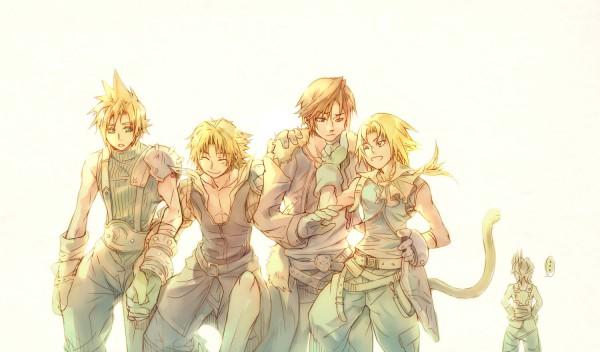 Tags: Anime, Illbewaiting, SQUARE ENIX, Final Fantasy X, Final Fantasy XII, Final Fantasy VII, Dissidia, Final Fantasy IX, Final Fantasy VIII, Zidane Tribal, Cloud Strife, Tidus, Vaan