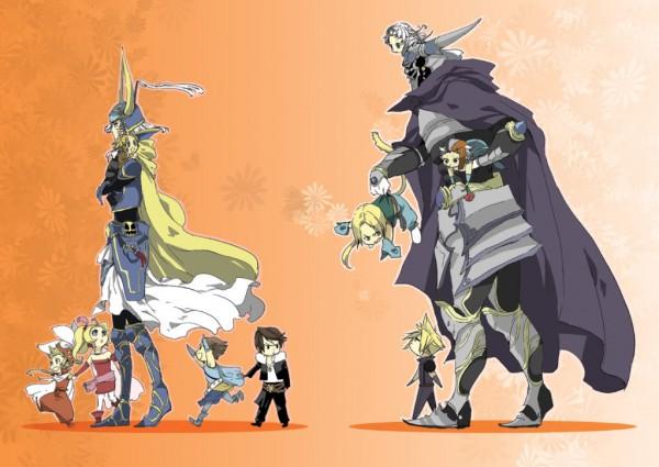 Tags: Anime, SQUARE ENIX, Dissidia, Final Fantasy IX, Final Fantasy VIII, Final Fantasy X, Final Fantasy VII, Zidane Tribal, Cloud Strife, Onion Knight, Warrior of Light, Garland (FF1), Tidus