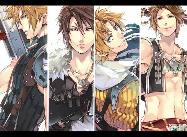 Tags: Anime, Pixiv Id 608441, Final Fantasy VII, Final Fantasy V, Final Fantasy XII, Dissidia, Final Fantasy VIII, Final Fantasy X, Vaan, Cloud Strife, Tidus, Butz Klauser, Squall Leonhart