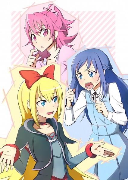 Tags: Anime, Ayatori (238676), Dokidoki! Precure, Aida Mana, Regina (Dokidoki), Hishikawa Rikka, Gray Outfit, Gray Dress, Pixiv, Fanart, Fanart From Pixiv