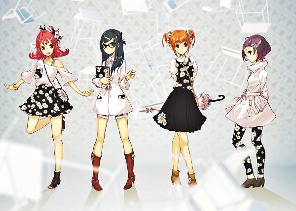 Tags: Anime, Ochakai Shinya, Dokidoki! Precure, Aida Mana, Hishikawa Rikka, Kenzaki Makoto, Yotsuba Alice, Leggings, Fanart, Fanart From Pixiv, Pixiv