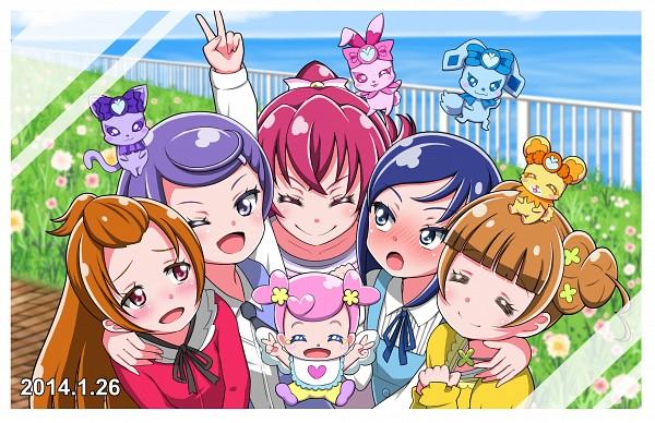 Tags: Anime, Pixiv Id 3348577, Dokidoki! Precure, Lance (Dokidoki! Precure), Aida Mana, Madoka Aguri, Davi (Dokidoki! Precure), Hishikawa Rikka, Ai-chan (Dokidoki! Precure), Kenzaki Makoto, Charles (Dokidoki! Precure), Raquel (Dokidoki! Precure), Yotsuba Alice