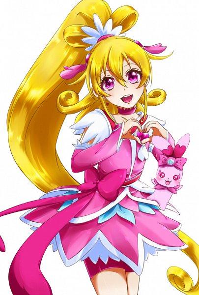Tags: Anime, Pixiv Id 11459800, Dokidoki! Precure, Cure Heart, Aida Mana, Charles (Dokidoki! Precure), Pink Shorts, Pink Armwear, Pixiv, Fanart, Fanart From Pixiv