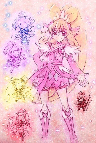 Tags: Anime, Pixiv Id 10336702, Dokidoki! Precure, Kenzaki Makoto, Cure Diamond, Madoka Aguri, Yotsuba Alice, Cure Heart, Cure Ace, Aida Mana, Regina (Dokidoki), Cure Rosetta, Hishikawa Rikka