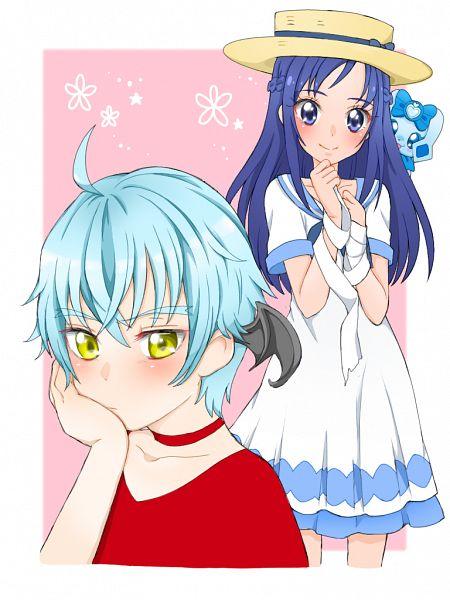 Tags: Anime, Pixiv Id 32013370, Dokidoki! Precure, Hishikawa Rikka, Ira (Dokidoki! Precure), Lance (Dokidoki! Precure), Fanart From Pixiv, Pixiv, Fanart