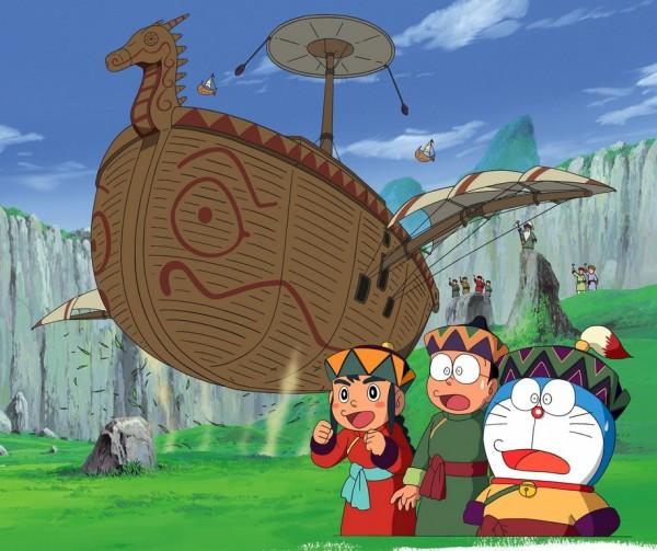 Tags: Anime, Doraemon, Doraemon (Character), Nobi Nobita, Flying Ship, Wallpaper