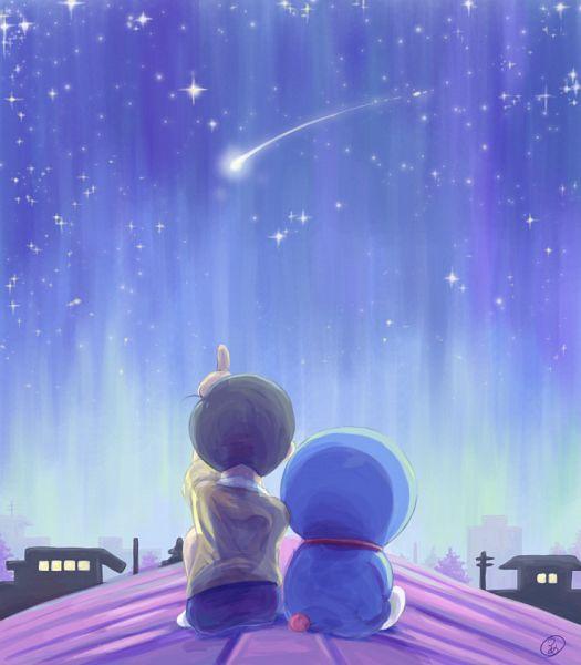 Tags: Anime, Pixiv Id 1734459, Doraemon, Nobi Nobita, Doraemon (Character), Shooting Stars, Fanart, Pixiv