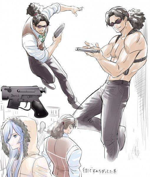 Tags: Anime, Yuuki Rika, Double Decker! Doug & Kirill, Derick Ross, Milla Vrubel, Pixiv, Fanart, Fanart From Pixiv