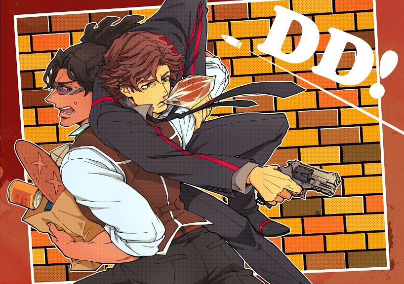 Tags: Anime, Pixiv Id 5458717, Double Decker! Doug & Kirill, Derick Ross, Doug Billingam, Pixiv, Fanart, Fanart From Pixiv