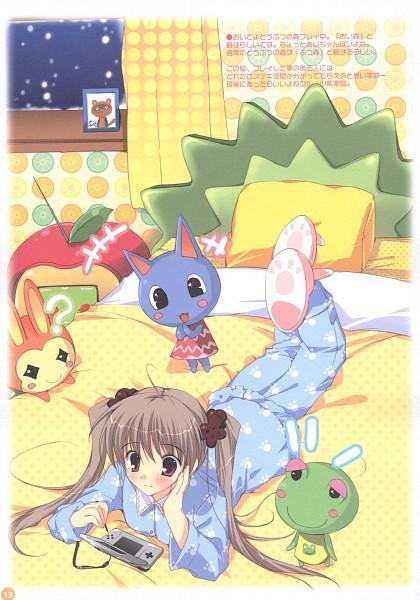 Tags: Anime, Mikeou, Tropical Honey, Doubutsu no Mori, Tanukichi, Bouquet (Doubutsu no Mori), Keromi, Lilian (Doubutsu no Mori), Otaku, Raccoon, Nintendo DS, Fanart, Mobile Wallpaper, Animal Crossing