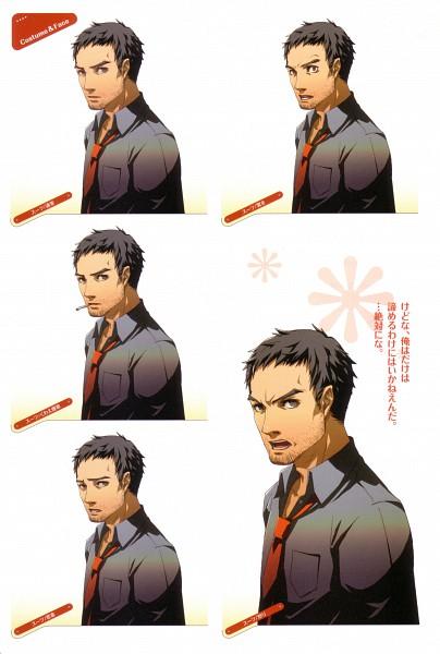 Tags: Anime, Soejima Shigenori, Atlus, P4 Official Design Works, Shin Megami Tensei: PERSONA 4, Doujima Ryoutarou, Stubble, Official Art, Character Sheet