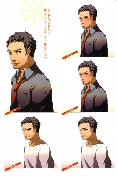 Tags: Anime, Soejima Shigenori, Atlus, P4 Official Design Works, Shin Megami Tensei: PERSONA 4, Doujima Ryoutarou, Character Sheet, Official Art