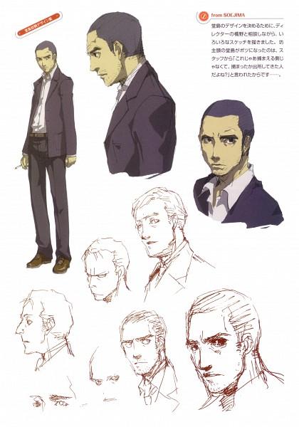 Tags: Anime, Soejima Shigenori, Atlus, P4 Official Design Works, Shin Megami Tensei: PERSONA 4, Doujima Ryoutarou, Official Art, Sketch