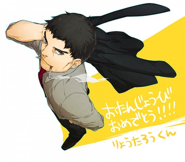 Tags: Anime, Aqlism, Shin Megami Tensei: PERSONA 4, Doujima Ryoutarou, Stubble, Fanart, Pixiv