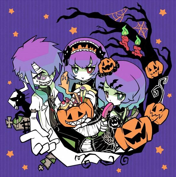 Tags: Anime, syuri22, VOCALOID, Kamui Gakupo, Megurine Luka, Kagamine Rin, Rho (VOCALOID), Lambda (VOCALOID), Test Tube, Grave, Star Girl and the Illusory Musical Paradise, Dr. Realist, cosMo-p